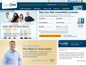 Care One is a debt management service that I used successfully in my journey out of debt.