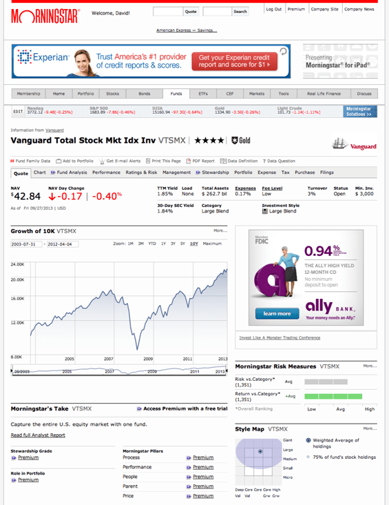 Morningstar is a powerful resource for learning about mutual funds and investing.