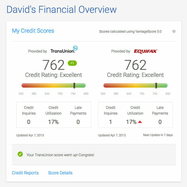 Get your free credit score and report at CreditKarma.com