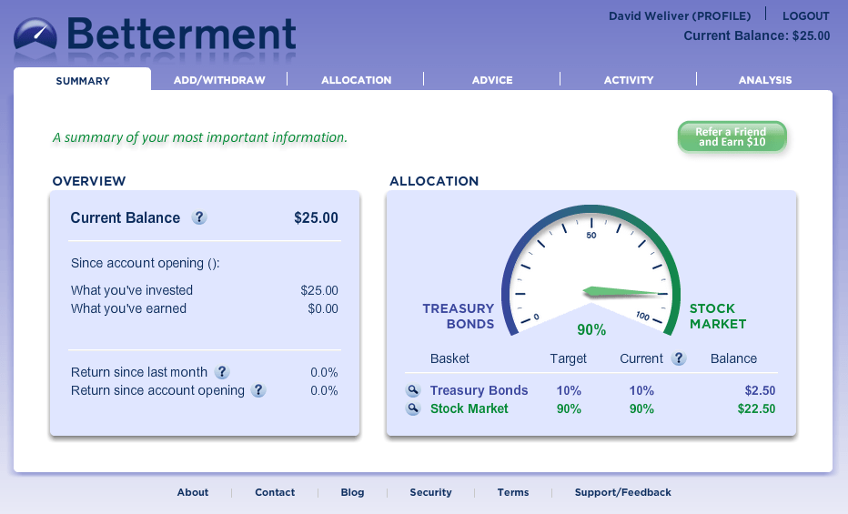Betterment provides simple investing as a great alternative to online brokers.