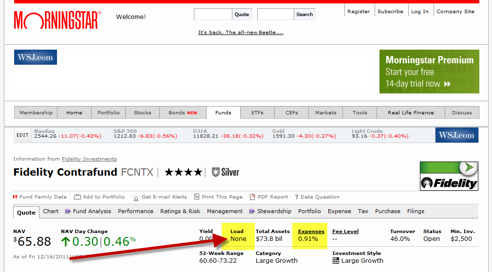 You can find a mutual fund's fees in its prospectus or on data Websites like Morningstar.