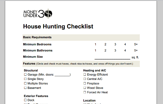 Home Buying Checklist,Furnishing A New Home