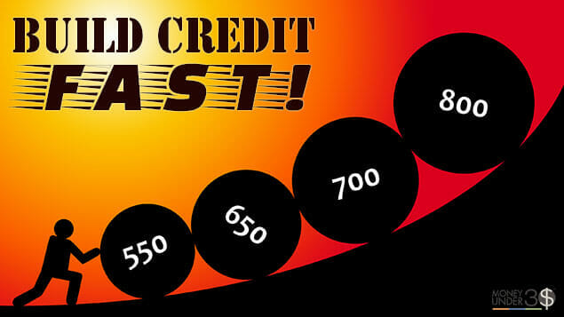 How do you build credit fast?