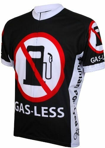 Father's day gift idea: Gas-less cycling jersey.