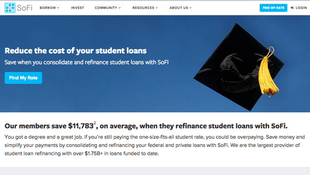 Refinance student loans with SoFi