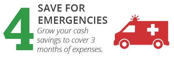 6 + 1 System, Step 4: Save for emergencies