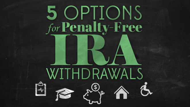 Options for penalty-free IRA withdrawals.