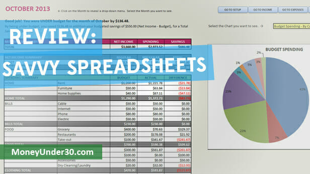 Savvy Spreadsheets is an easy, affordable way to start budgeting with Excel.