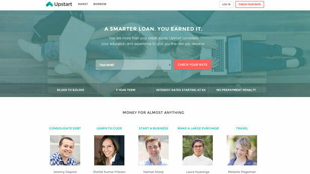 Upstart Provides Personal Loans No Credit Required