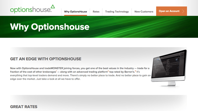 Optionshouse or trademonster