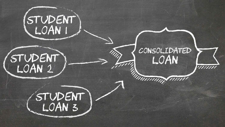 Consolidating student loans.