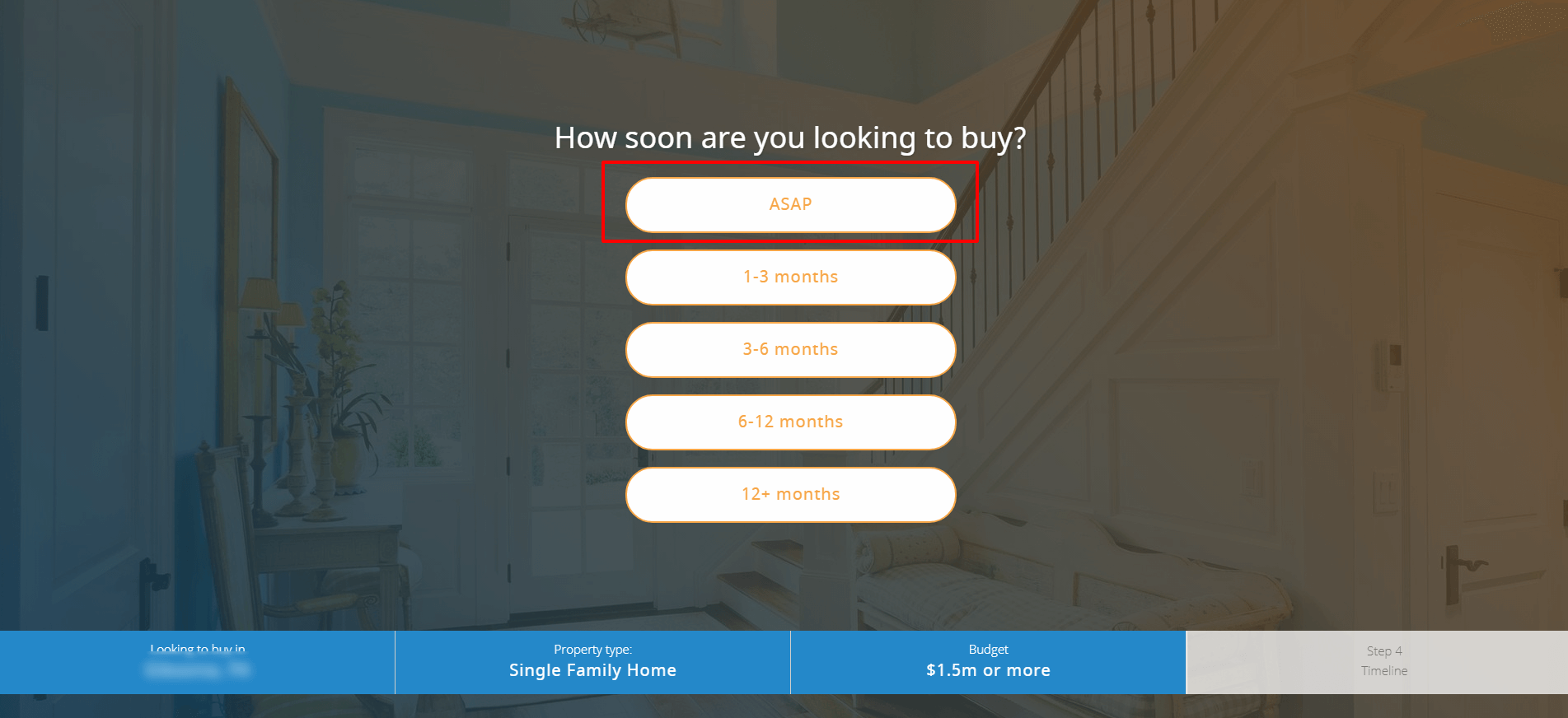 when are you planning to buy house