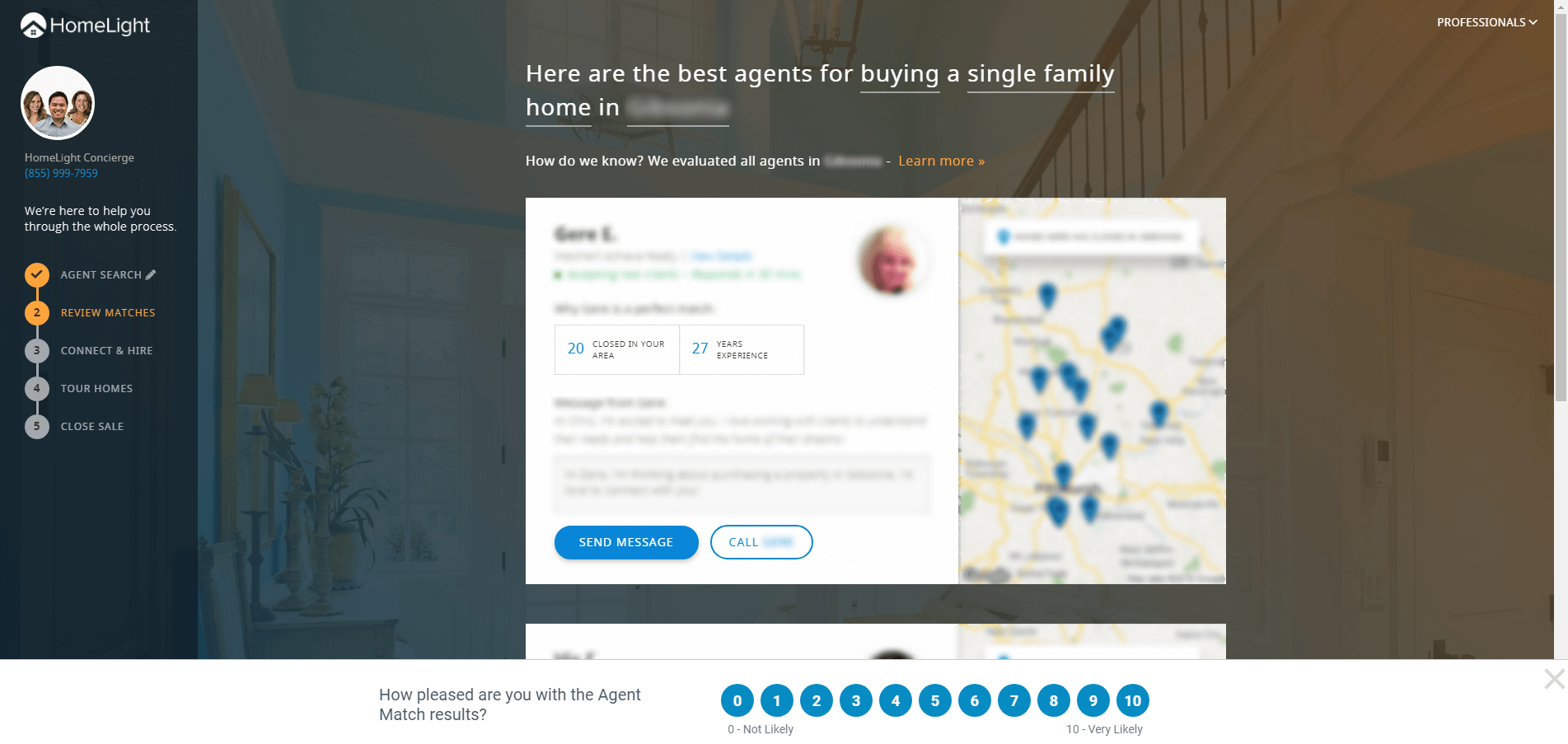 Review your real estate agent matches