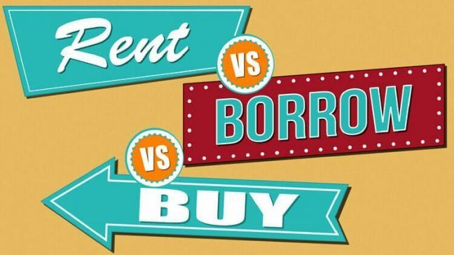 When Should You Rent, Borrow, Or Buy Products? - Money Under 30