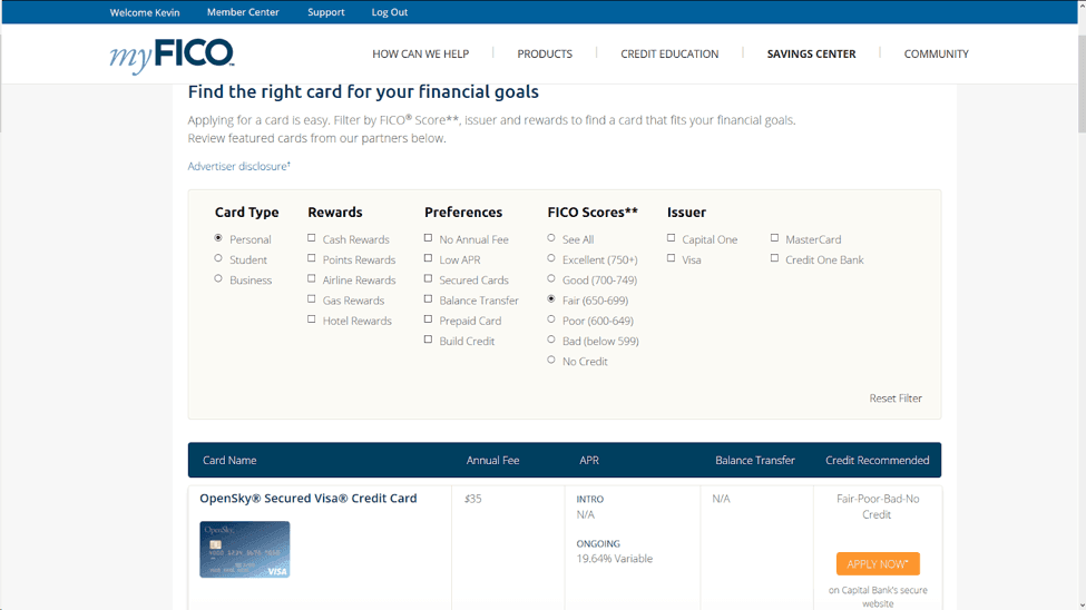 Company Website  Fico Score Credit Report Myfico