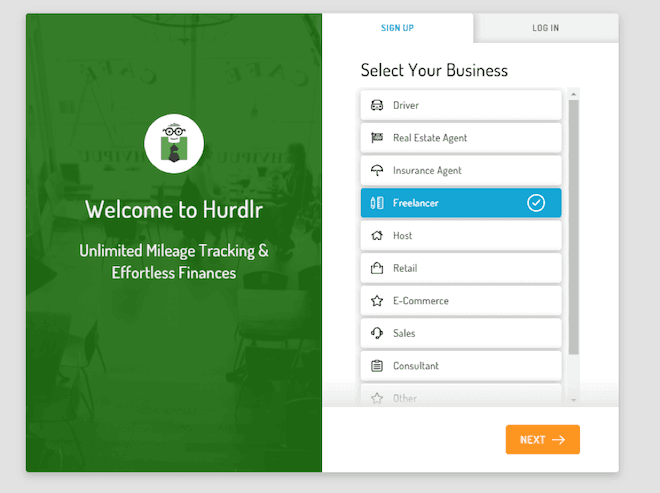 Hurdlr - select your business