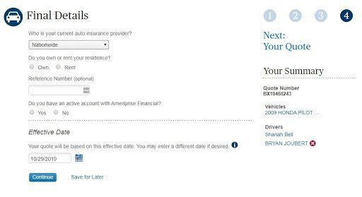 Ameriprise Insurance Review: My Experience with Ameriprise - Final Details