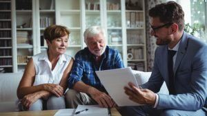 Invest with Traditional human financial advisors