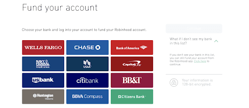 Robinhood Review: My Experience As A Beginning Investor - Choose your bank