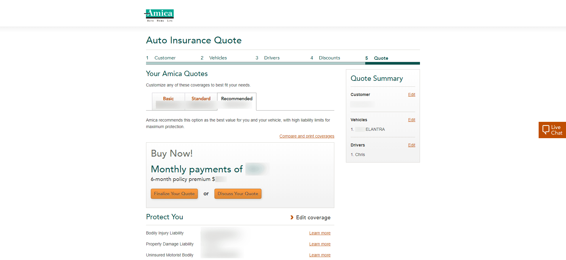 Amica Insurance Review - Quote