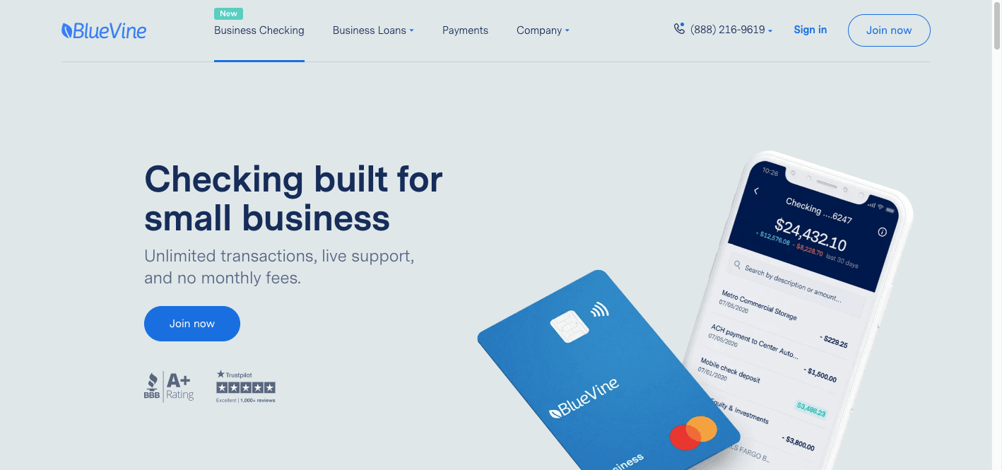 BlueVine Business Bank Review: Checking Built For Small Business - Join now