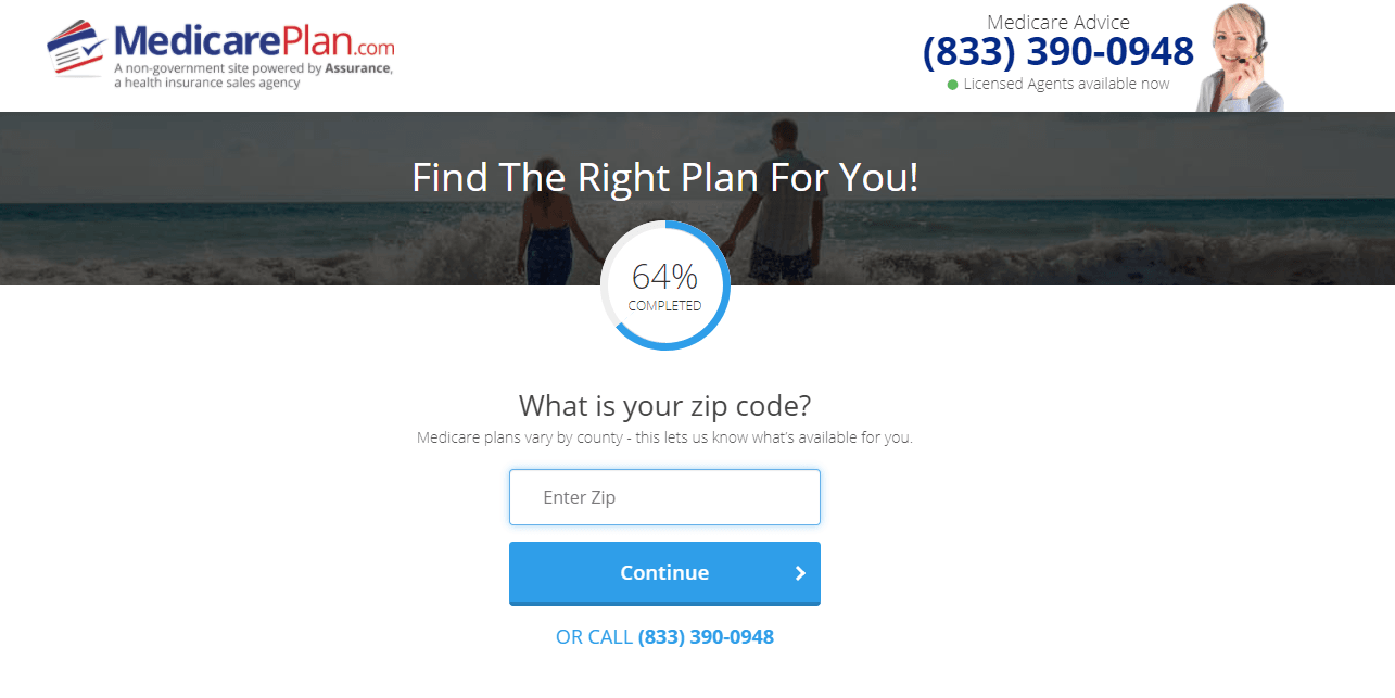MedicarePlan.com Review: We'll Help You Find Medicare Coverage the Easily - What's Your Zip Code?