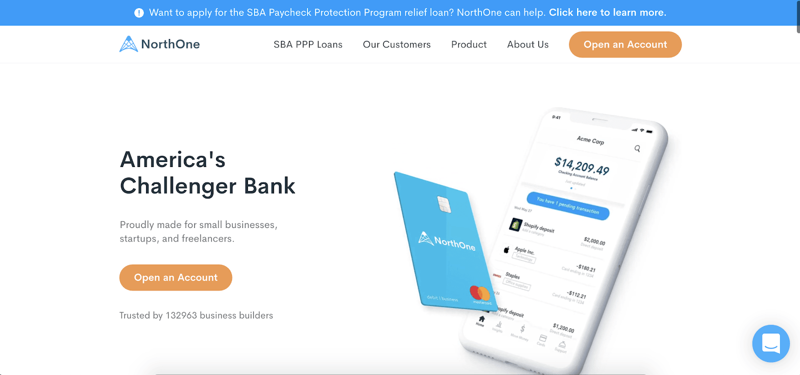 NorthOne Business Checking Account Review: Fee-Free Business Checking With Plenty Of Perks - Website sign-up