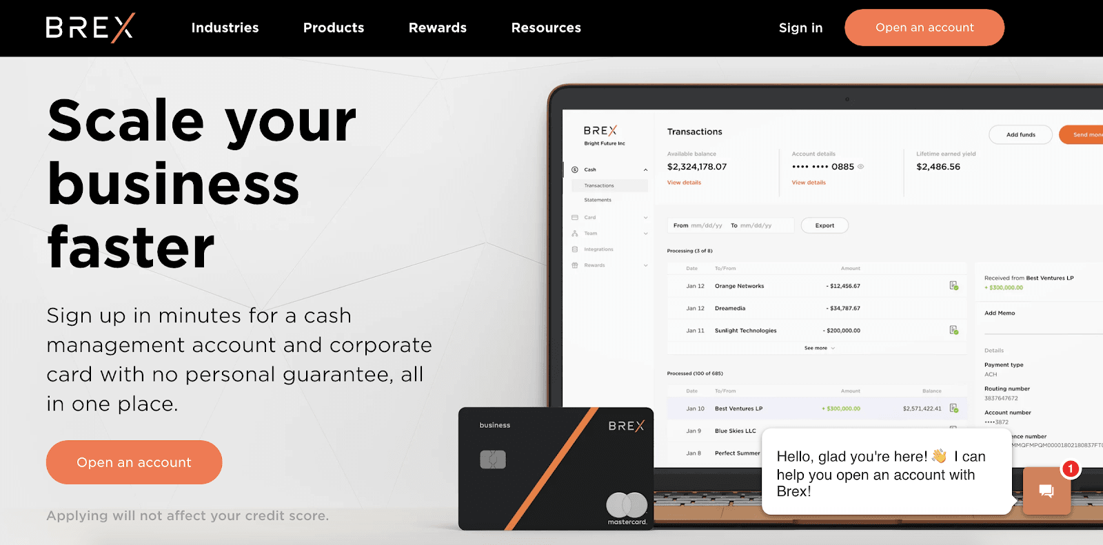 Brex Review: A Company That Makes Managing Your Startup A Breeze - Open an account