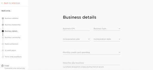 Brex Review: A Company That Makes Managing Your Startup A Breeze - Business details