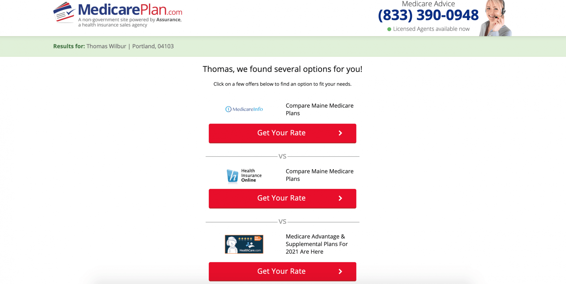 MedicarePlan.com Review: We'll Help You Find Medicare Coverage the Easily - Results
