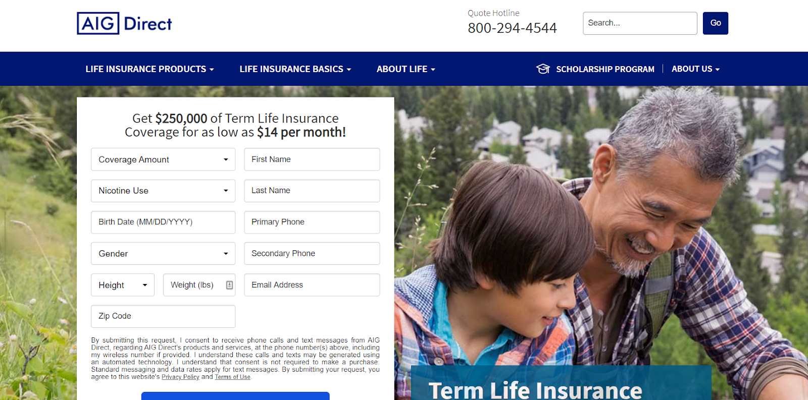 AIG Review: Plenty of Life Insurance Options means there is something for everyone - personal information