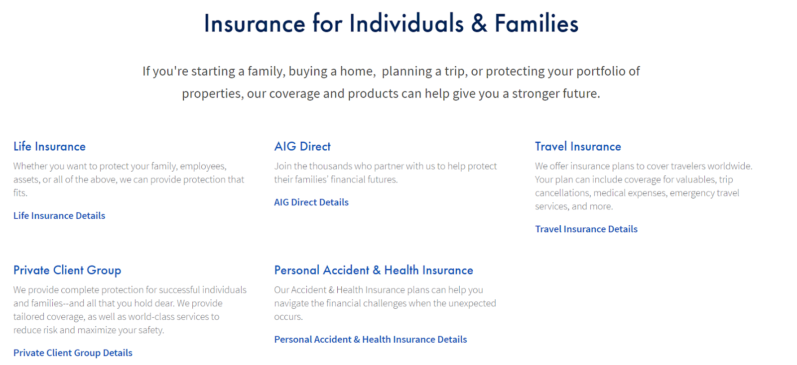 AIG Review: An Abundance of Life Insurance Options means there is something for everyone - Insurance Options