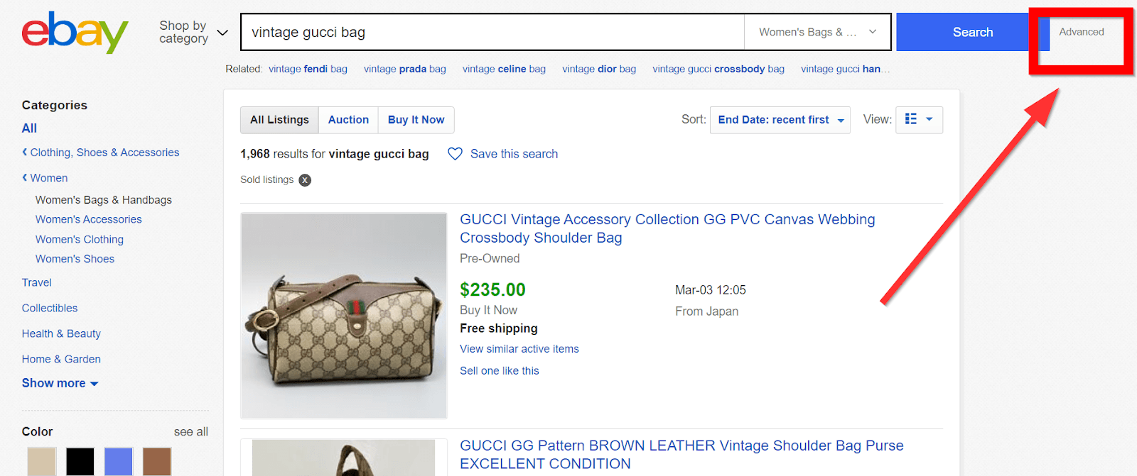 How To Sell Your Inherited Valuables - eBay listing