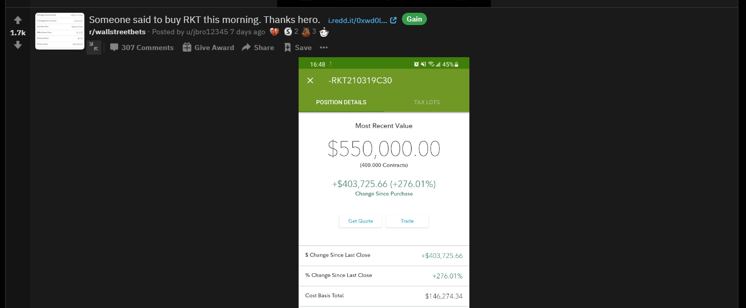 What Is r/wallstreetbets, And Should You Take Their Investing Advice? - $150k into $550k in a single morning