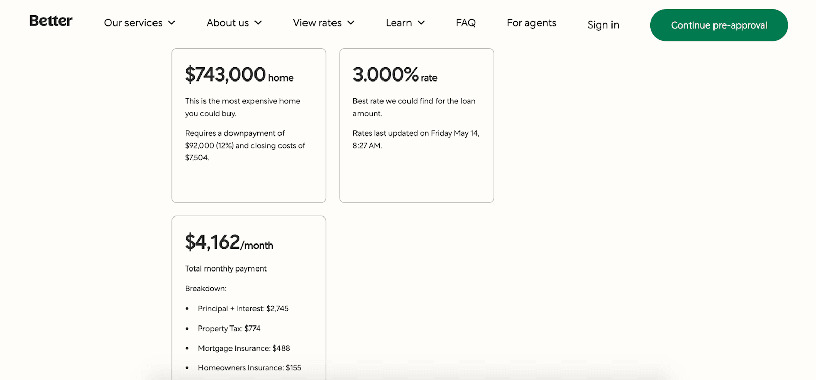 Better.com: Affordable Mortgages In An Easy-to-Use Platform - Interest rate example