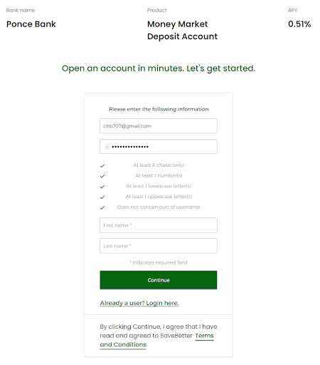 Ponce Bank Deposit Accounts Review: Grow Your Money With Above Average Interest Rates - Create an account