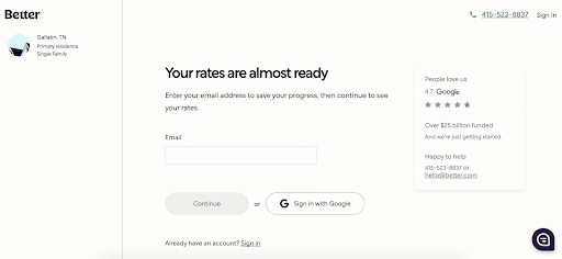 Better.com: Affordable Mortgages In An Easy-to-Use Platform - Your rates are almost ready
