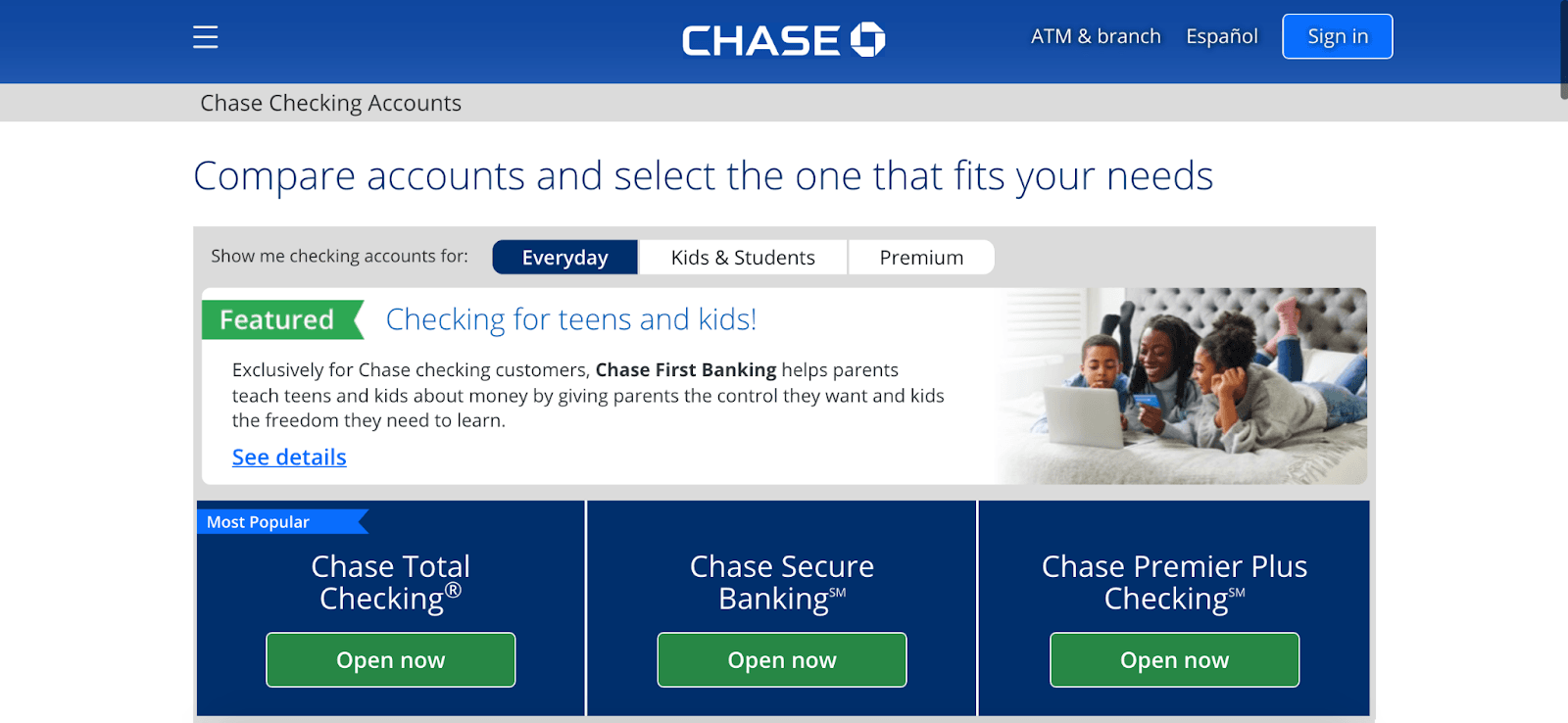 Chase Bank Review: Combining Online And Local Banking - Compare accounts