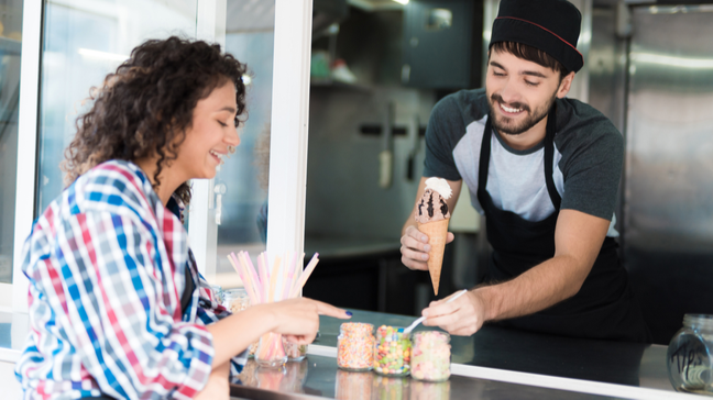 Thinking About Opening An Ice Cream Shop? Here's How Much You'll Make - Serving ice cream
